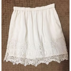 Club Monaco silk and lace skirt